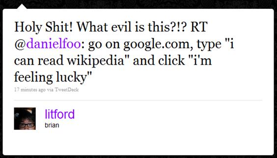 """I can read Wikipedia"""
